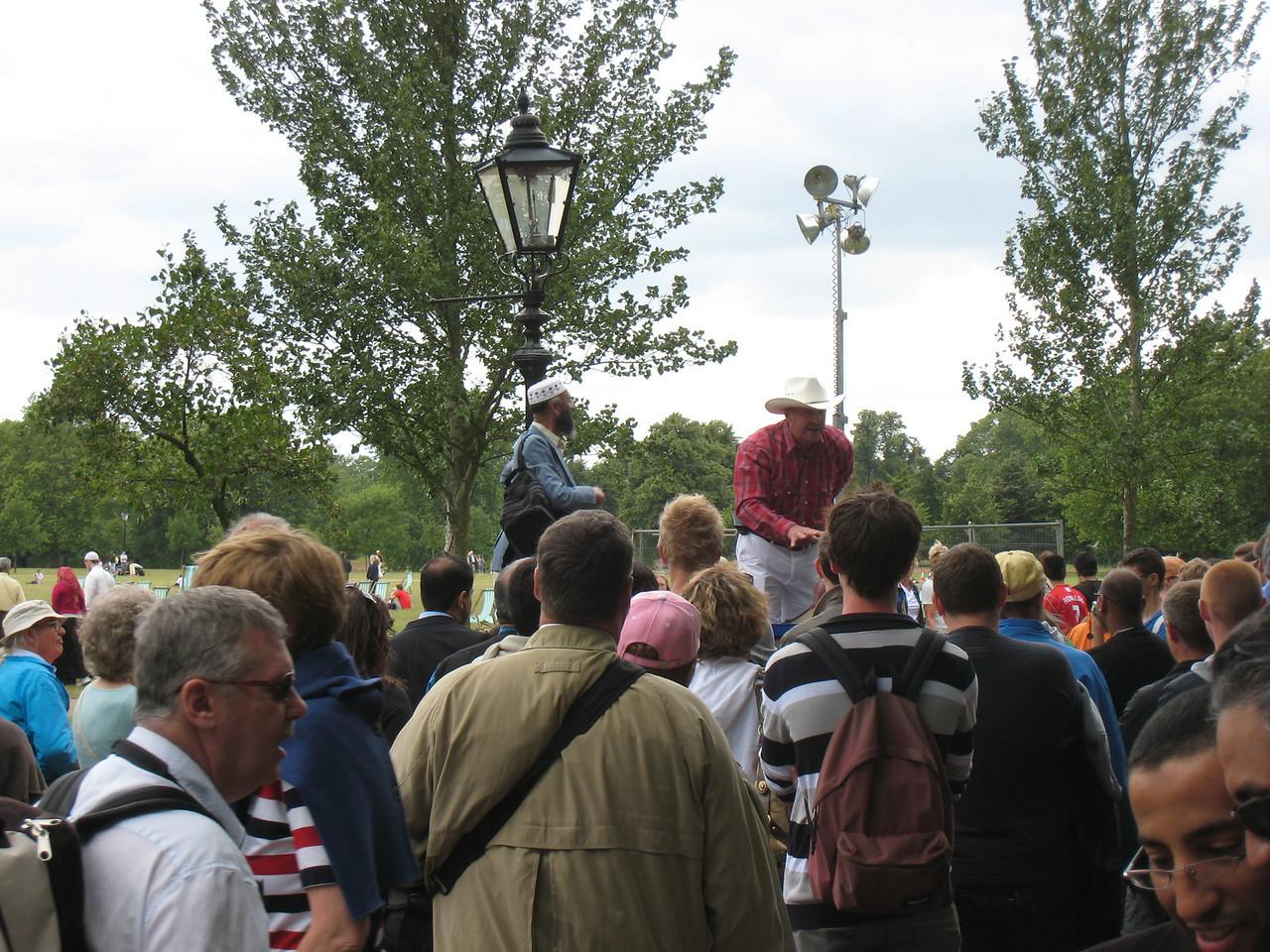 Speaker's corner in Hyde Park