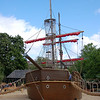 Pirate ship play area at the Princess Diana Memorial Playground in Hyde Park.