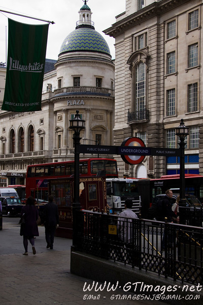 This picture was from when we were making our way from Picadilly Circus, to the Mall, and onto Buckingham Palace. In this picture, you see the entrance to the Underground - London's subway system. It is easy to use, and a great way to get about town. We used it to get from Heathrow Airport to our hotel, then all around town.