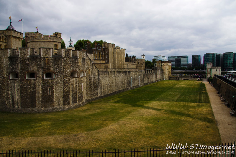 "This is a picture of the Tower of London. The tower, in my opinion, is really a ""castle complex."" There used to be a tower, that was part of this complex, known as the Tower of London. It was painted white, and was destroyed by fire many years ago. The grass field between the Castle wall and the outer wall was at one point a moat filled with water. Also (I will need to check the facts here), Lions wandered the moat as well. The royal family had an impressive Menagerie of exotic animals from throughout the world."