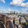 City of London von der goldenen Galerie der St Paul's Cathedral aus gesehen