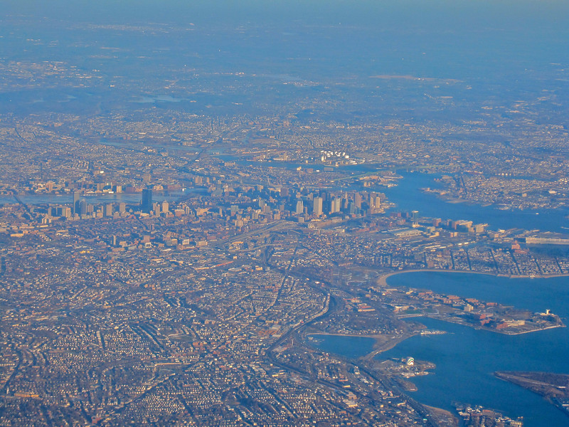 Boston after take-off.