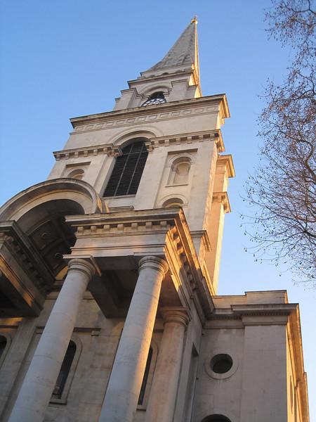 Old Spitalfields Church in E1, London.