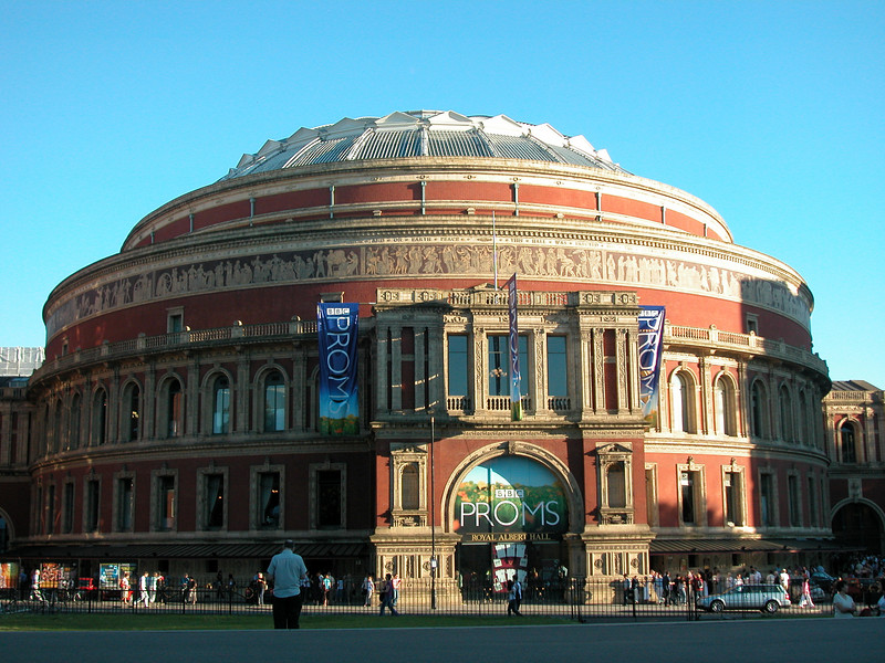 The Royal Albert Hall of Arts en Sciences. Just opposite of the Prince Alberts' statue..