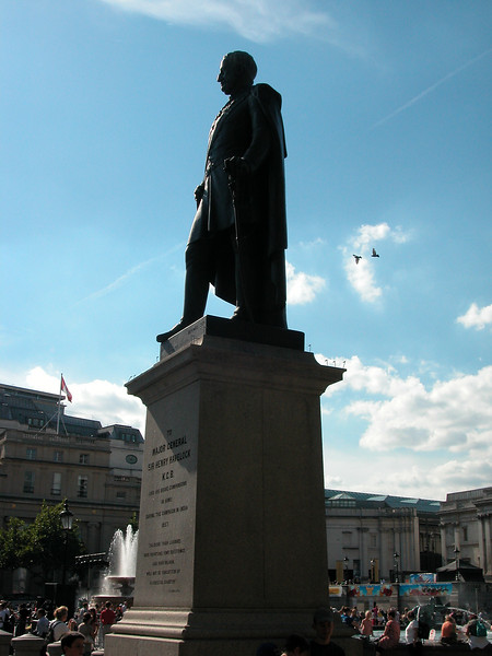Statue of Major-General Sir Henry Havelock, a British general who is particularly associated with India. <br /> He was noted for his recapture of Cawnpore from rebels during Indian Rebellion of 1857.