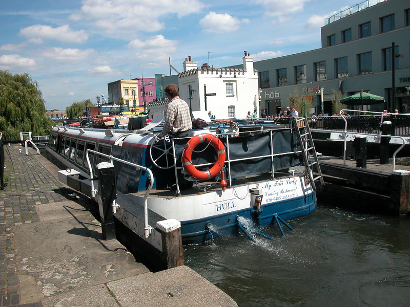 This is the 'Camden Lock' of Camden Town, nice place to be, North London..