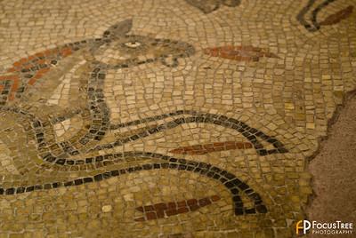 Tile floor within the Roman Baths