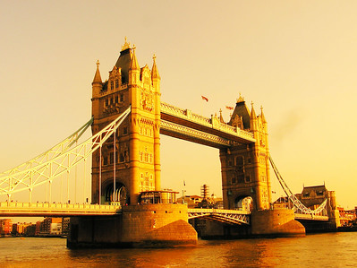 Tower bridge in early sunset