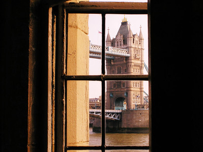 View from Tower's window toward Tower Bridge