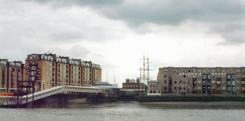 Columbia Wharf, Docklands London England - Jun 96