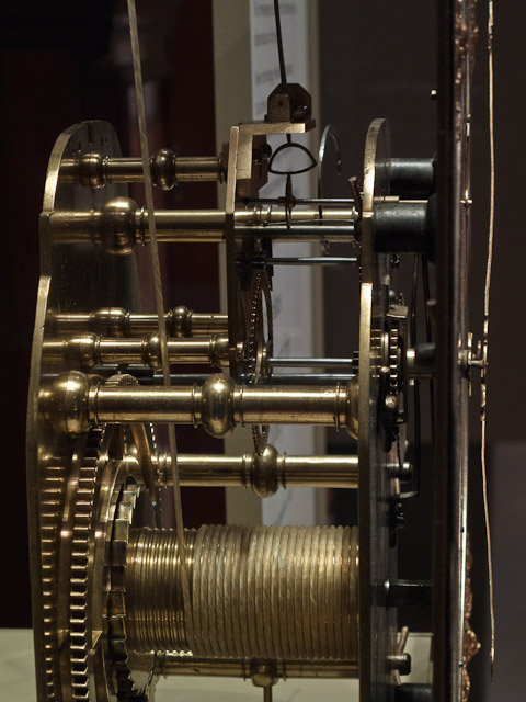 Inner workings of a clock in the British Museum