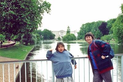 Lan and Gill St James Park London England - Jun 96