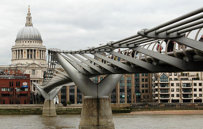 Millennium Bridge and St. Paul's