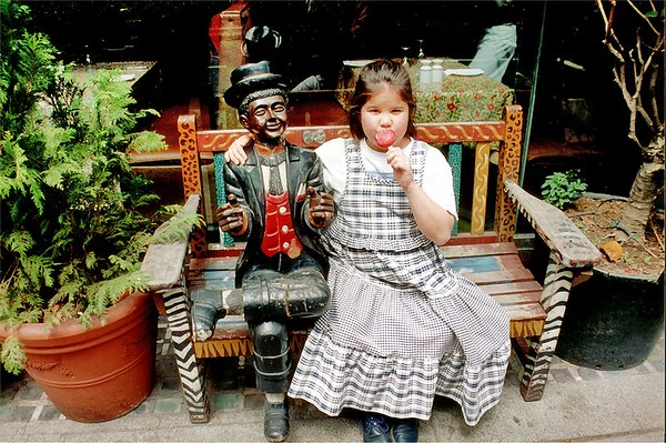 Lan and friend on the Strand London England - Jun 96