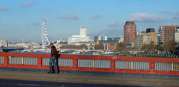 The Thames, looking east from Vauxhall Bridge - November, 2010
