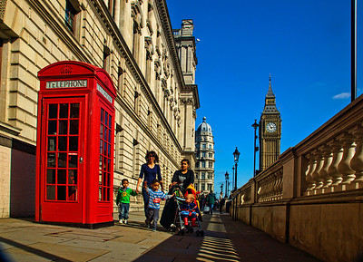 Big Ben, and the quintessential London Telephone Booth