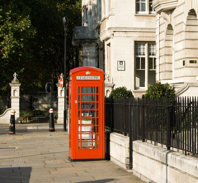 London still has the iconic telephone booths. Although, I think they are more for the tourists than for actual use.
