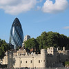 Tower of London and Swiss Re Tower