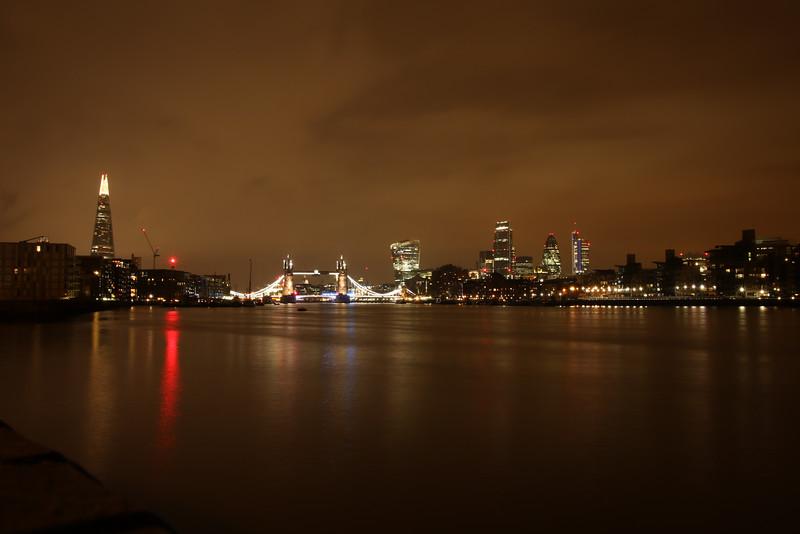 Twoer Bridge at night. Eastern view