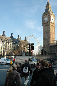 Big Ben and the London Eye, from Westminster - November, 2010