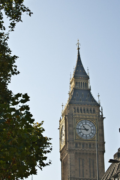 The iconic Big Ben speaks for itself.