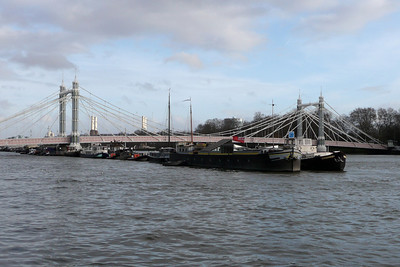 Barges on the Thames