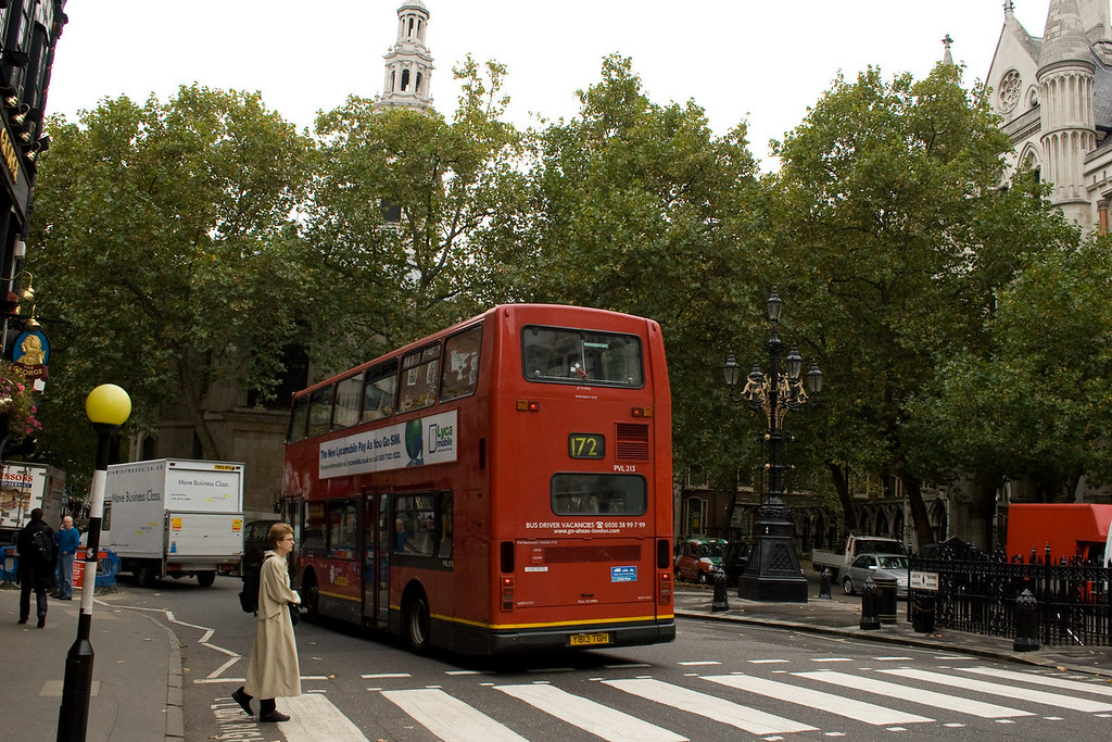 Yes, Britain still uses the famous double-decker buses.