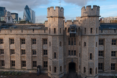 Tower Of London; View from White Tower across the yard  Nov 2010
