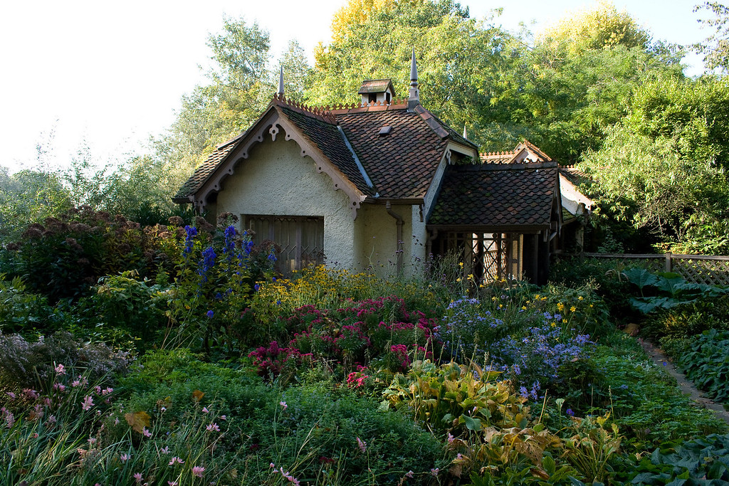 A small flower cottage in St. James park.