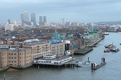 View from the Walkways of Tower Bridge