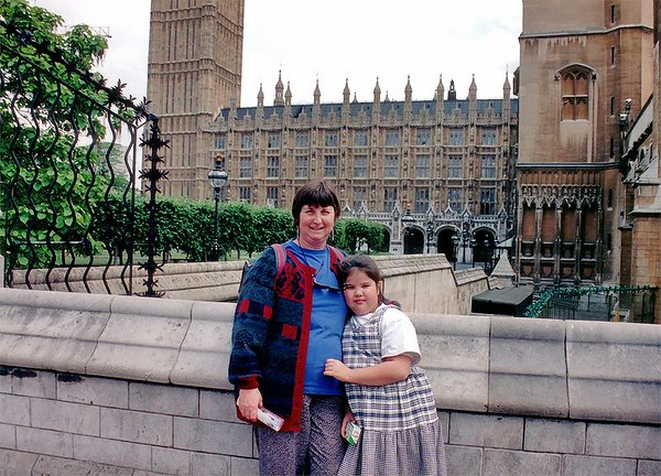 Lan and Gill Big Ben and Parliament House London England - Jun 96