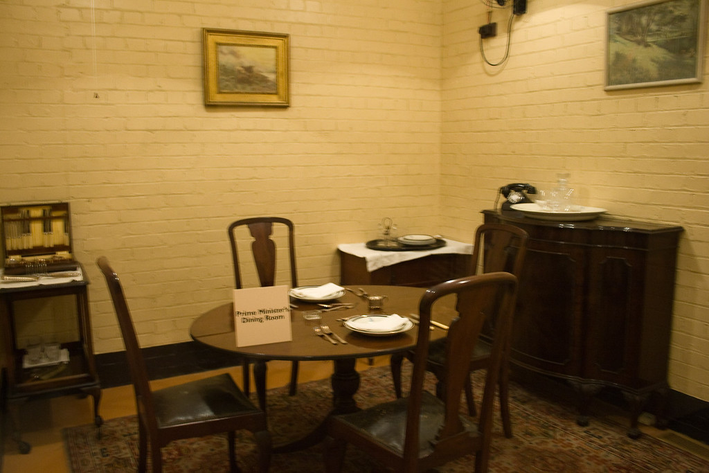This was the underground dining room for Winston Churchill and his wife.