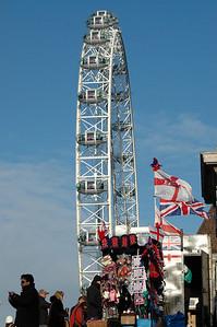 The London Eye, from Lambeth Walk - November, 2010