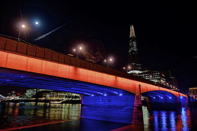 "The ""Shard"", as seen above the London Bridge"