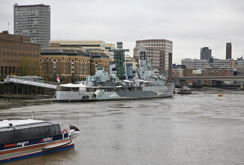 London 2008 - Thames River - HMS Belfast