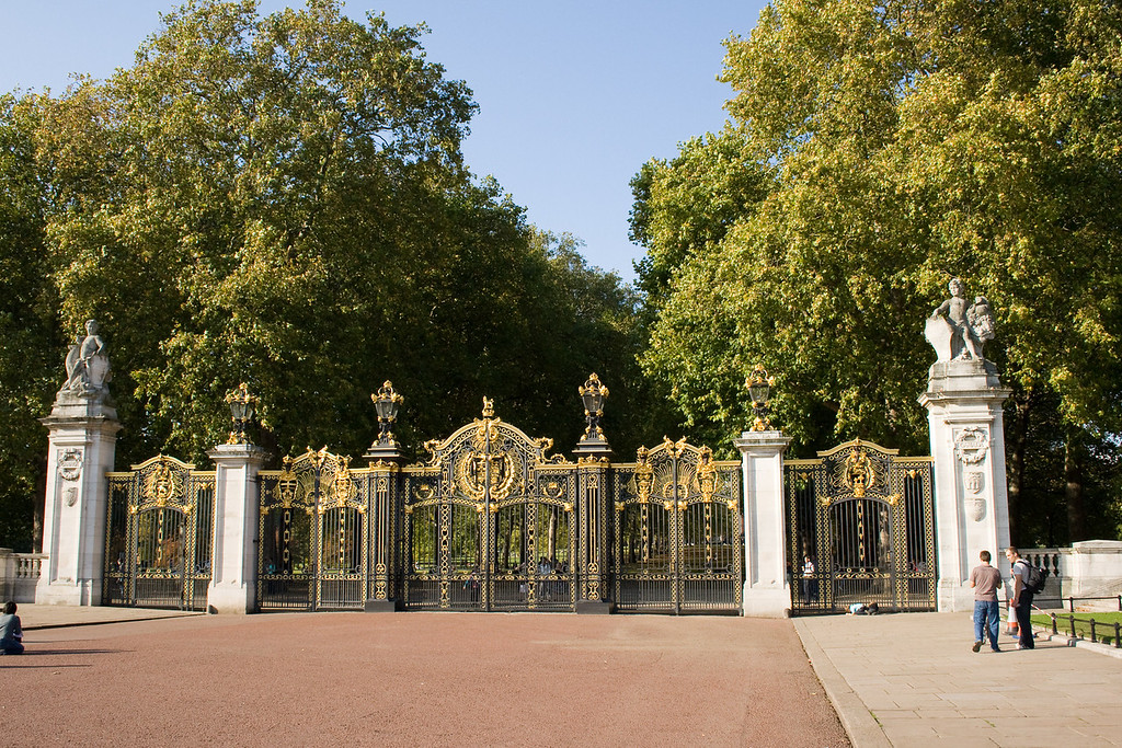 The gates of the palace.