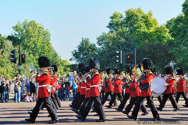 Change of the guard at Buckingham Palace