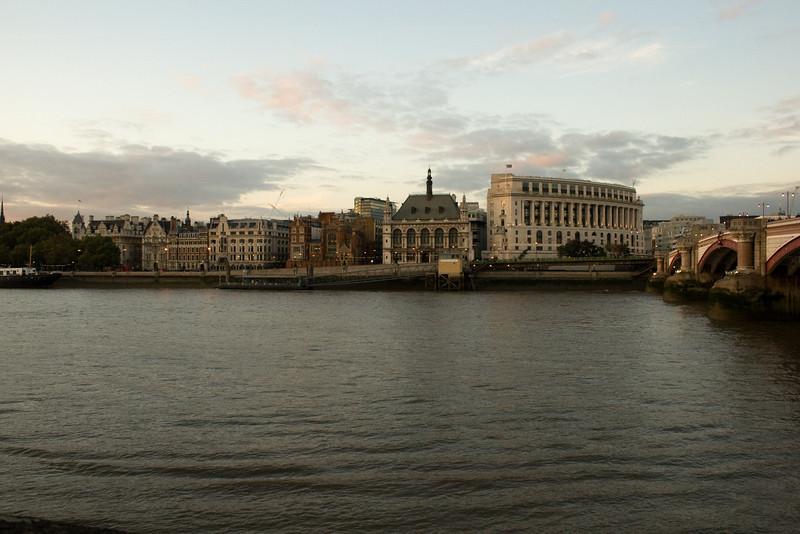 Looking across the Thames from Blackfriar Bridge