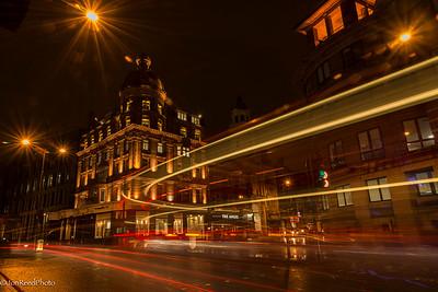 London night street scenes