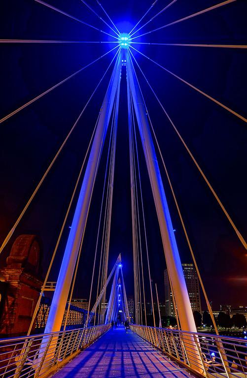Brilliant Blue Hungerford Bridge