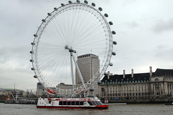 The London Eye, from Westminster Pier