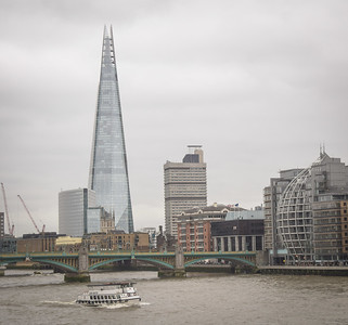 "The Shard and London City Hall (""The Onion""), from Millennium Bridge"