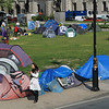 These tents belong to Brian? who has been protesting here continuously since the beginning of the Iraq war.