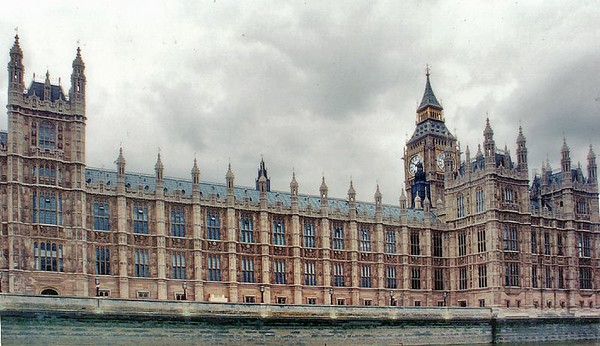 Parliament House from the Thames London England - Jun 96