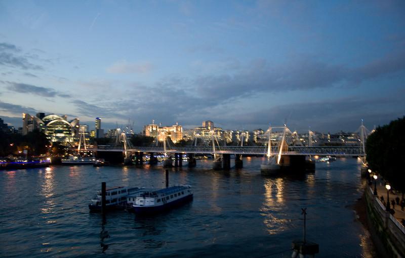 The Thames at dusk.