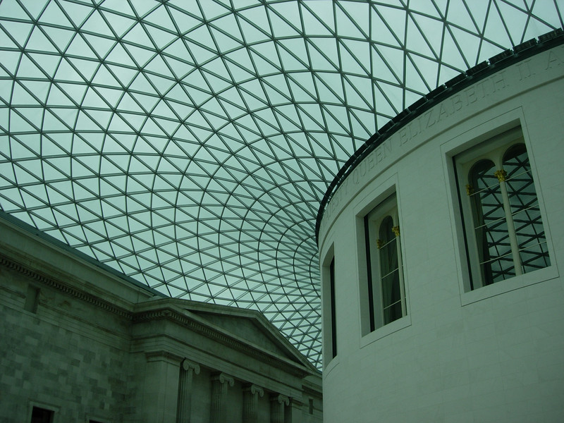 Inside the British Museum - London England