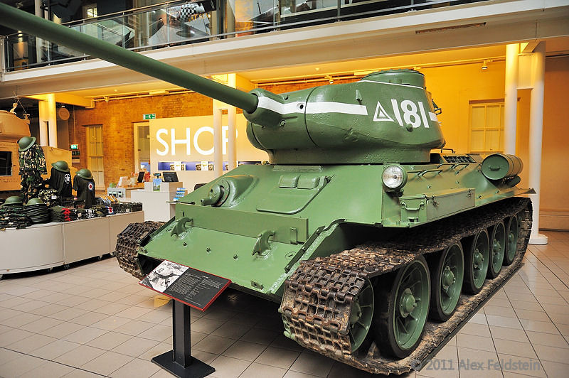 Russian T34/85<br /> Imperial War Museum