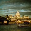 St. Paul's from the River Thames, London