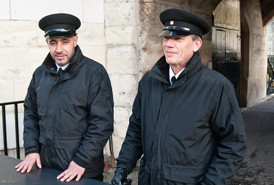 Security Guards at the Tower Of London  Nov 2010