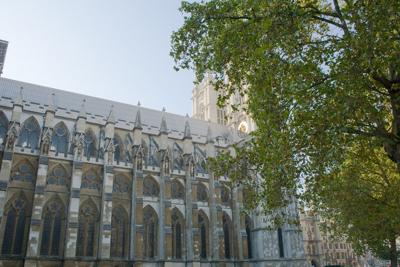 The side of Westminster Abbey. It is incredible when you think about the history that took place there.